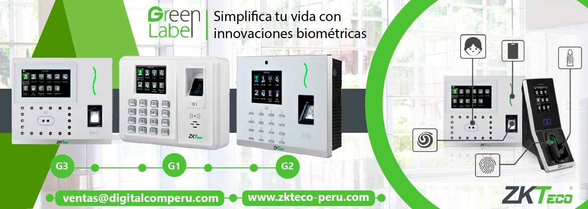GREEN LABEL ZKTECO